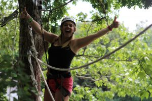 Challenge yourself on our tree top high ropes course!